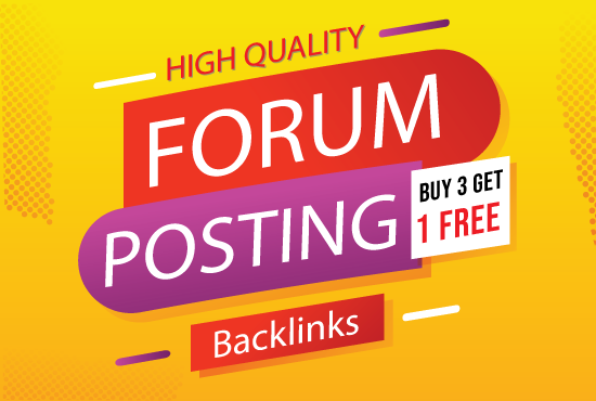 Provide 40 HQ Forum Posting SEO Backlinks on high DA PA