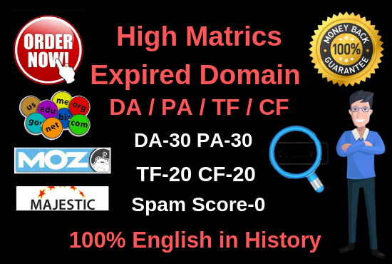 5 High quality Top expired domain research for you