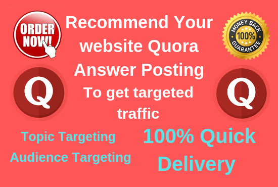 Recommend your website 5 high quality Quora Answer posting