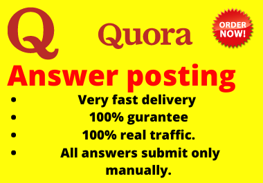 Promote your website 10 high quality Quora Answer posting