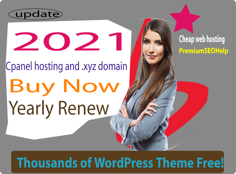 . xyz Domain free with 10 GB cpanel web hosting 2021 update server