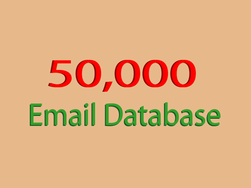 50,000 Valid database for email marketing campaign