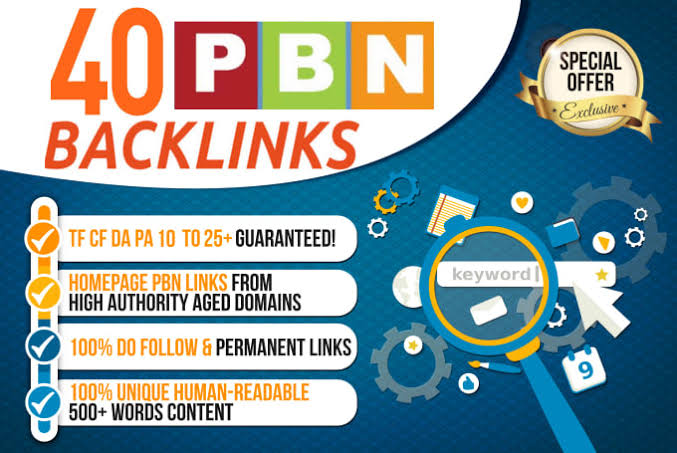 Build 40 Homepage Pbn Backlinks All Dofollow Quality Link