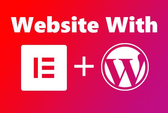 design responsive wordpress website using elementor pro page builder