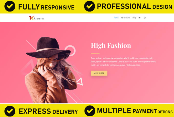 create a professional wordpress ecommerce website or online store