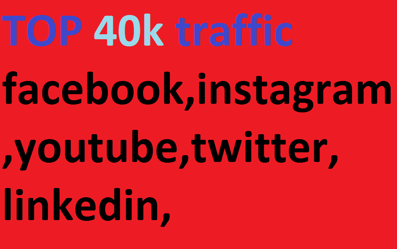 40k, boost website keyword real organic targeted web traffic, facebook, instagram, youtube, twitter