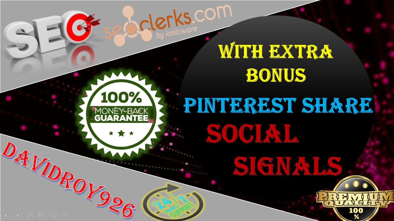 Special Offer,  15,000+ Pinterest Share Social Signals Important For SEO Ranking