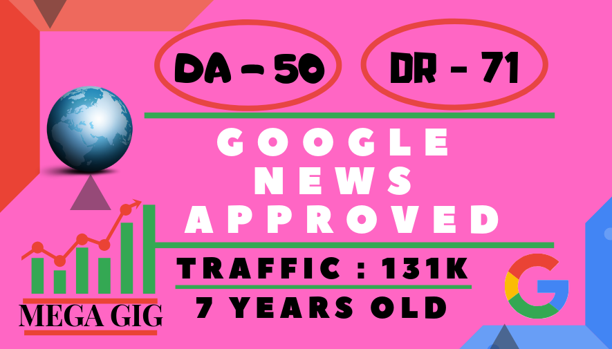 Guest Post On My DA-50 Google News Approved Website With Writing Unique Article