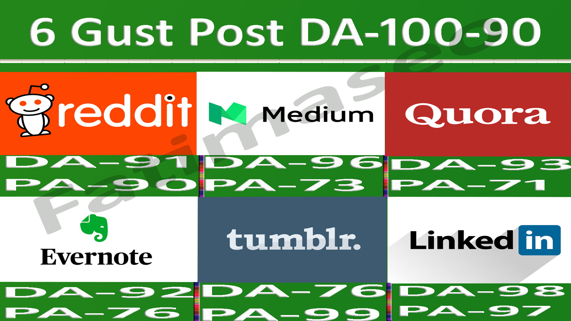 Writing And Publish Guest Post On 6 Websites DA 90-100 fast Google Indexing