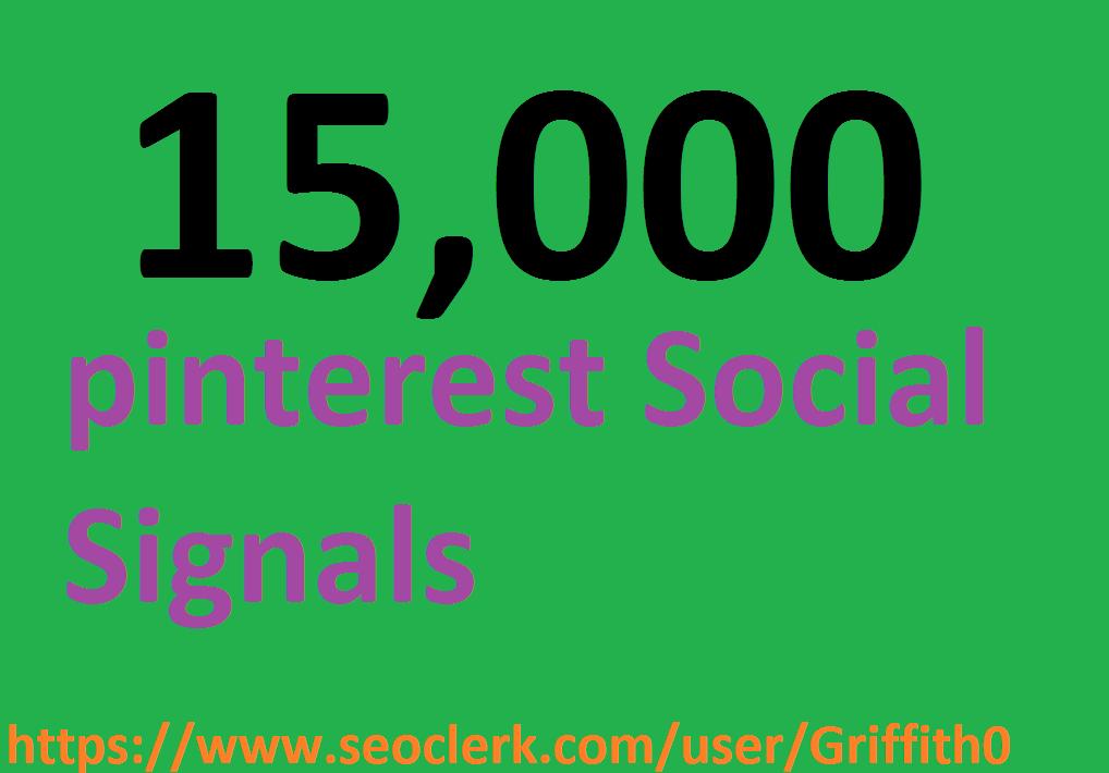 Limited Offer 15,000 PR9 PiNTEREST Social Signals