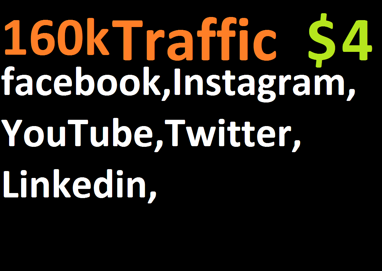 160,000 boost website real targeted web traffic facebook,instagram, youtube, twitter, linkedin