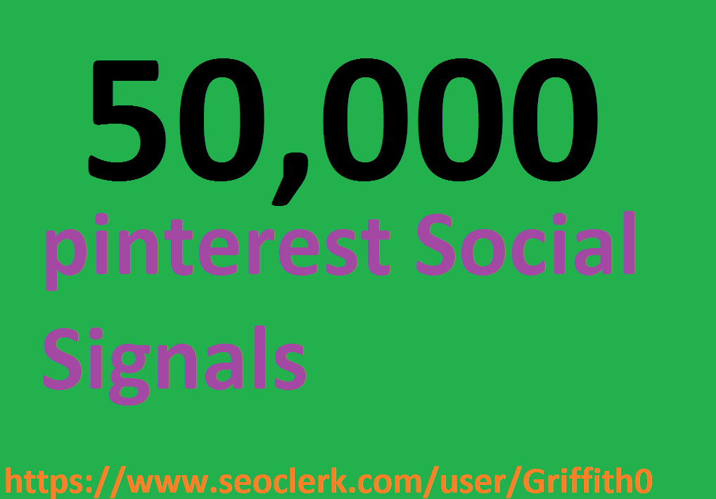 Limited Offer 50,000 PR9 PiNTEREST Social Signals