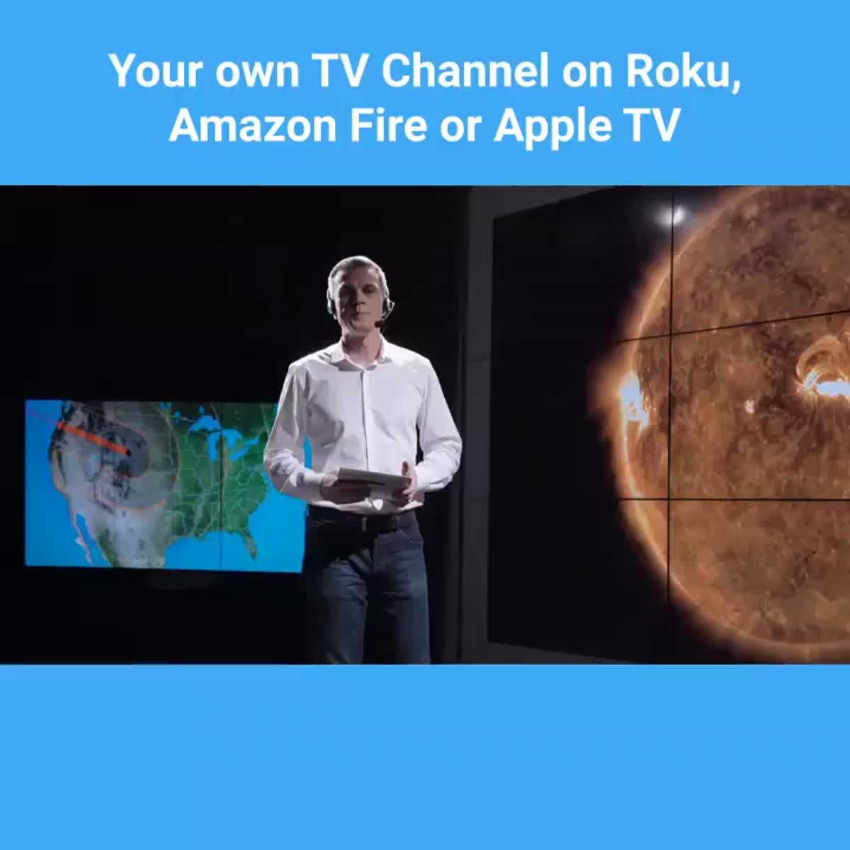 I will develop Roku TV channel for products and services