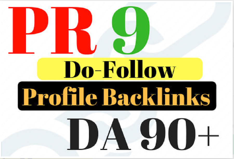 I will create manually 30 dofollow high da 80 to 100 pr 6 to 9 profile backlinks