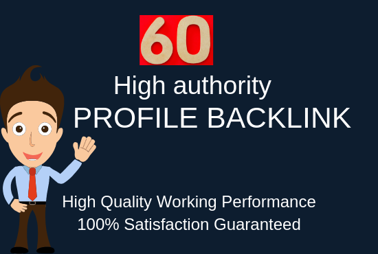 Create Manually 60 High Authority Profile Backlink