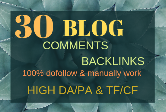 Do 30 dofollow blog comments backlinks for SEO