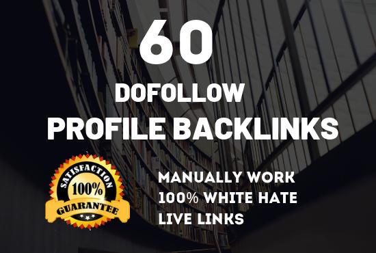 Create Manually 60 High Authority Profile Backlink