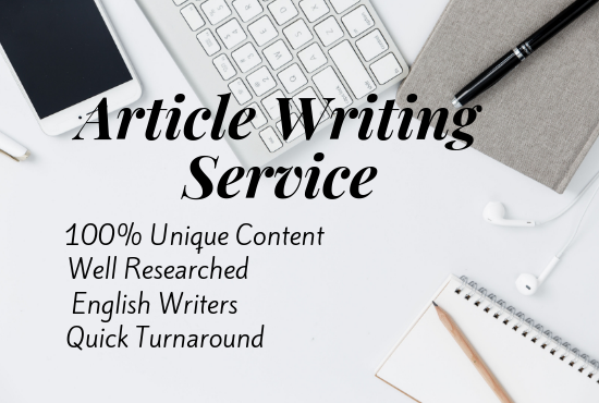 Do An Excellent 1000 Words 10 Article Writing, Content Writing, Blog Writing In Any Topic