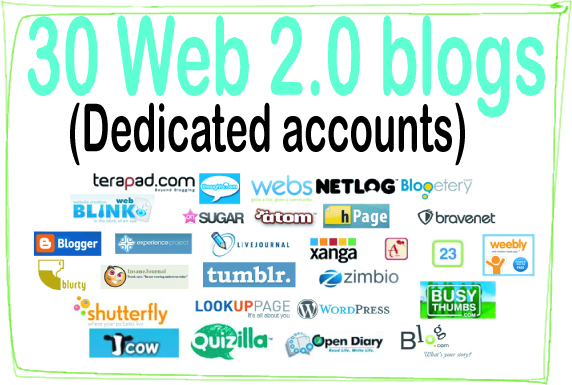 Do 30 Web 2.0 Blogs High-Quality PREMIUM Backlinks To Improvement Your Rank