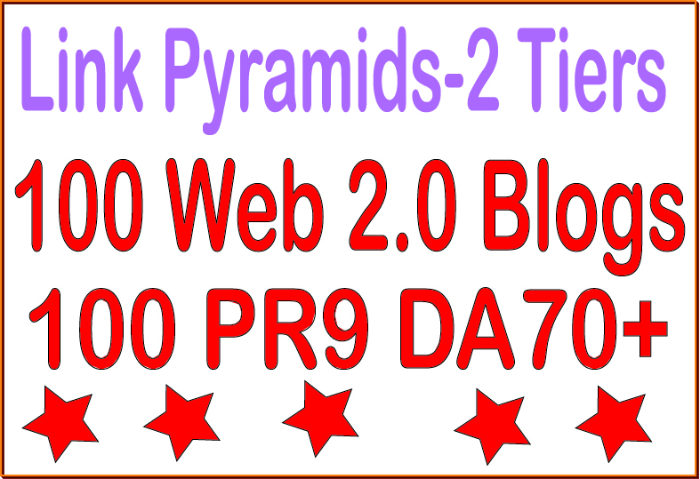 Superstar SEO Premium-100 PR9 - DA 70+ & 100 Web 2.0 blogs Tiered Backlinks For SEO
