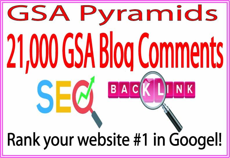 Top GSA Pyramids- 210000 GSA SER Blog SEO Rank high Your Site