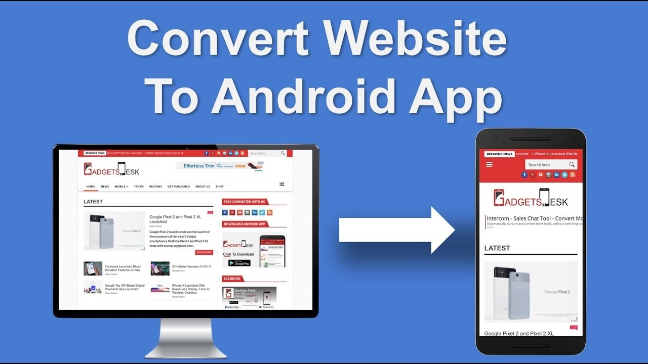 Convert Website To Android App within 24 hour