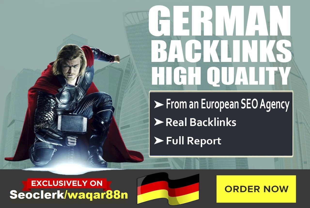I will build 20 German dofollow backlinks from Germany websites to rank your site in Germany