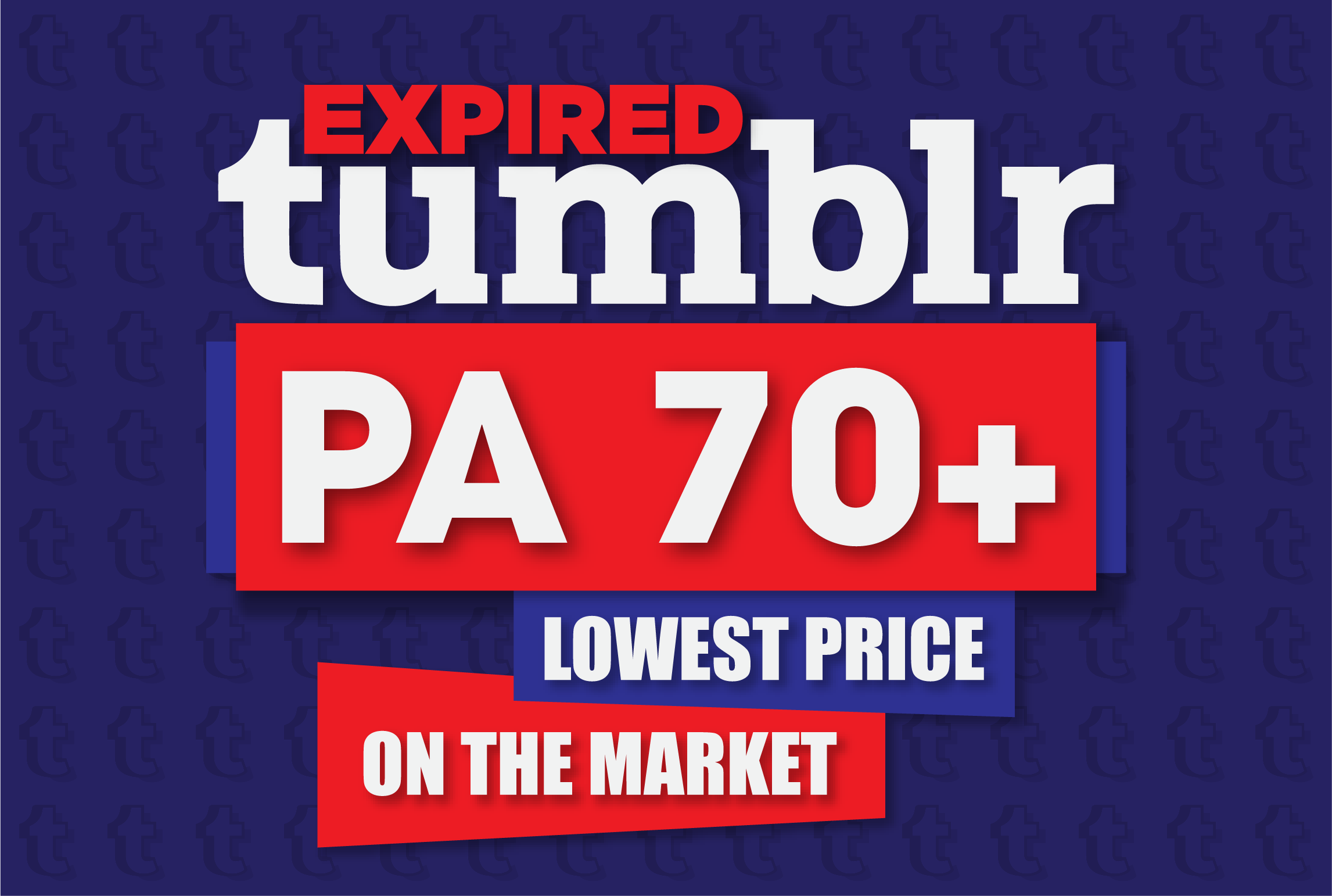 5 expired PA70+ Tumblr blogs with 1000+ backlinks