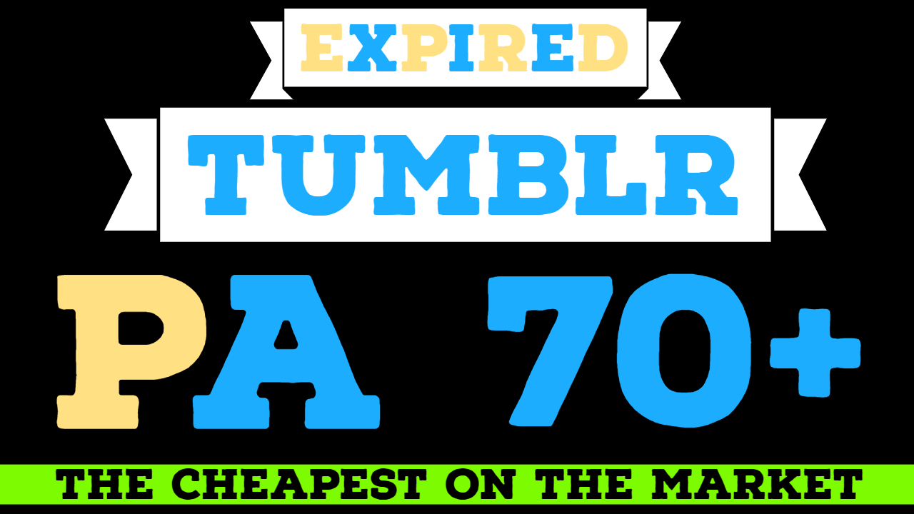 5 expired PA70+ Tumblr blogs registered with content and articles