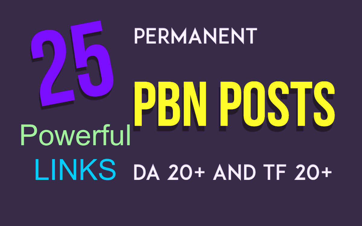 DA 25+ Manually Build 25 UNIQUE HOMEPAGE dofollow PBN backIinks