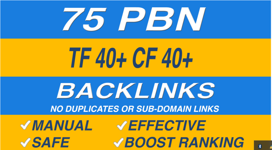 75 homepage pbn backlinks high tf cf da pa private blog network