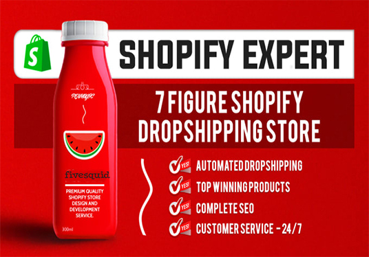 Develop Pro Automated Shopify Dropshipping Store