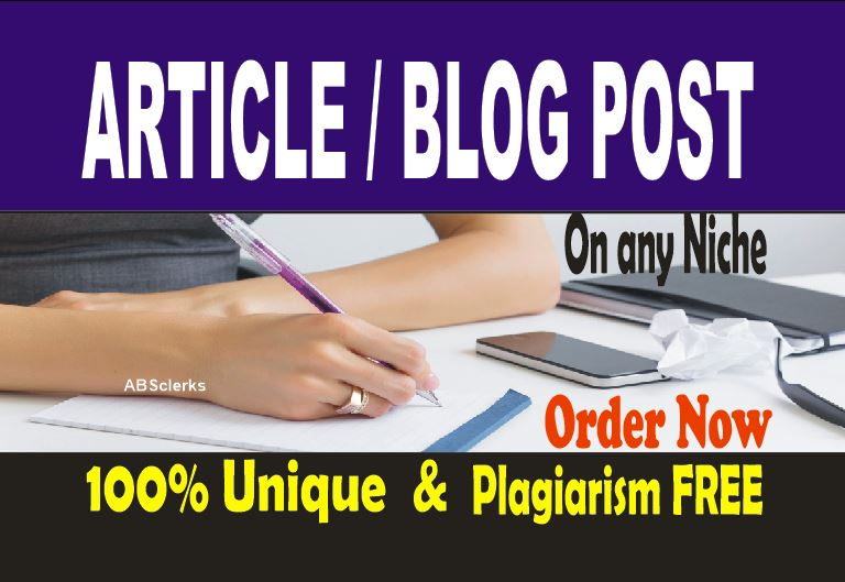 Write High Quality 1000 -1300 words ARTICLES or BLOGS Content