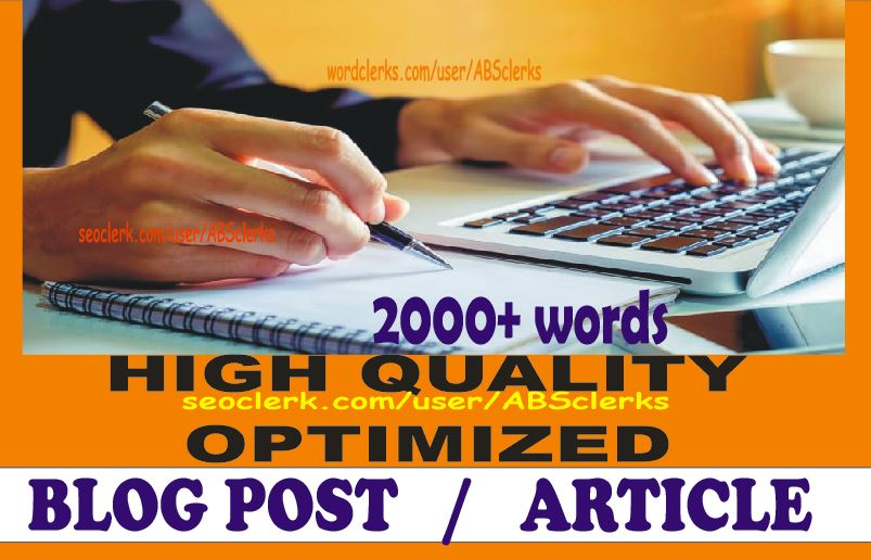 Expert SEO Content Writer - 2000words ARTICLE Writing/ BLOG POSTS/ Web Page Content