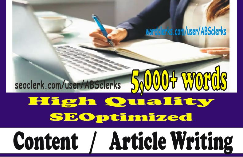 5000+ words Perfect ARTICLE or WEBSITE Content writing for SEOptimization