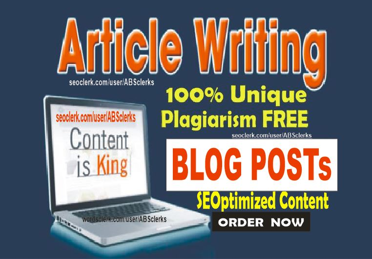 2500 + words Expert SEO writing for Articles or Blog Posts or website content