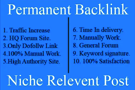 4 niche relevant forum posting for your website