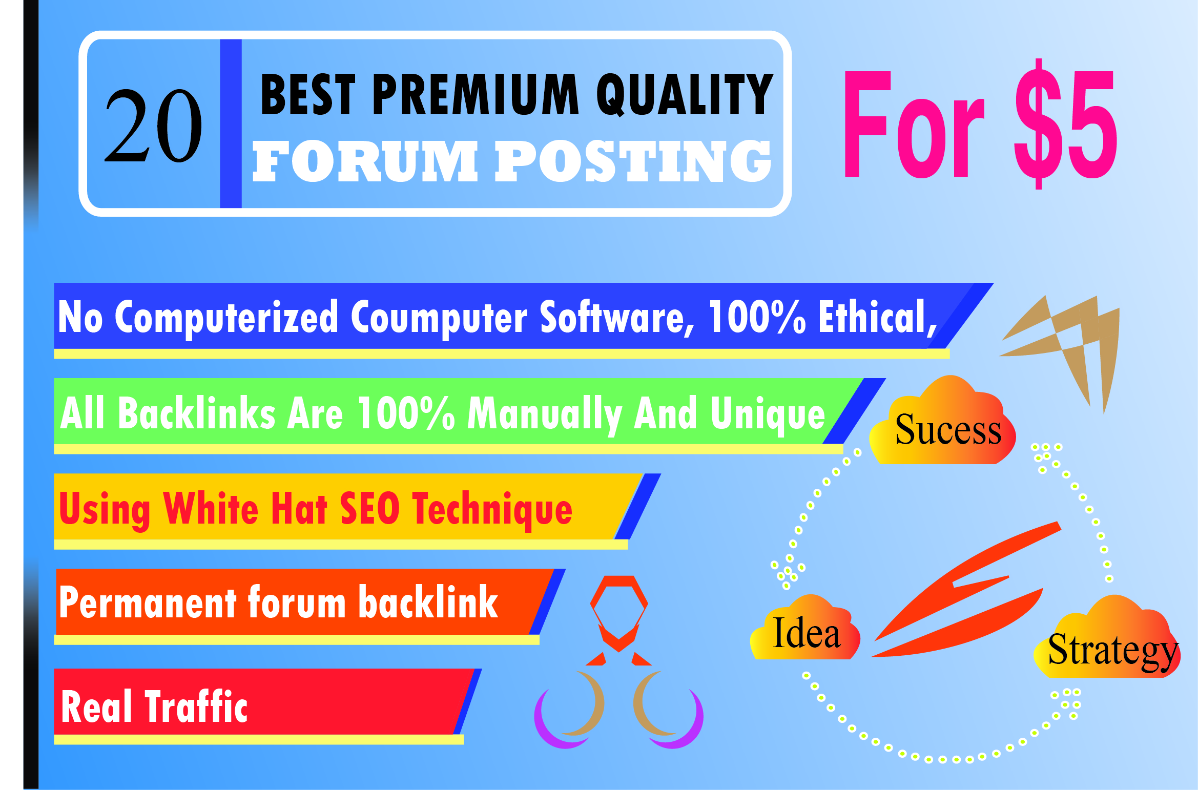 20 general forum posting your product or service