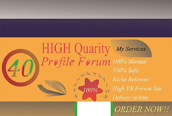do 40 HQ profile forum backlink for your url
