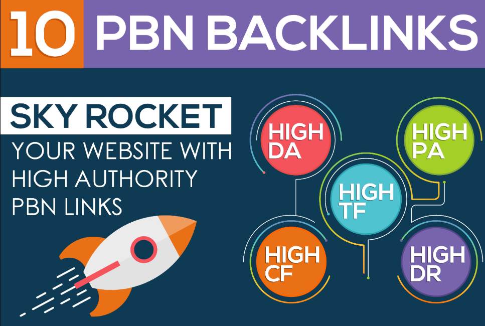 I will do 10 powerful homepage dofollow pbn links