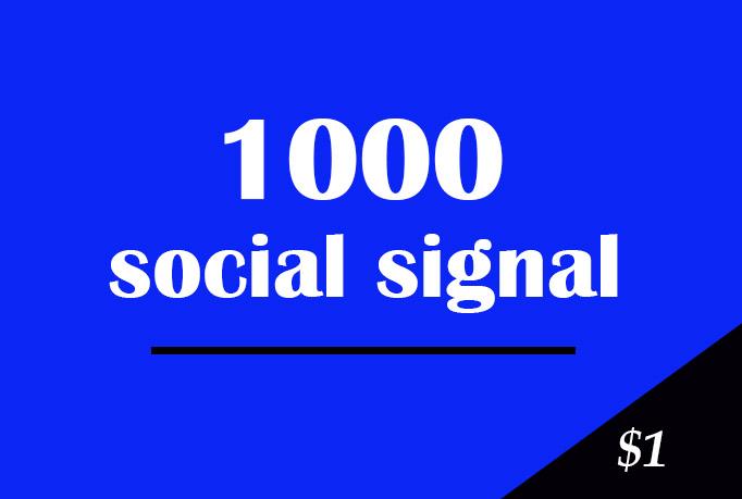 Manually 1000 SEO Social Signals HQ and Drip Feed
