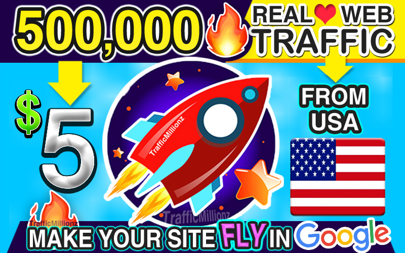 drive organic 500,000 USA web traffic visitors to your website