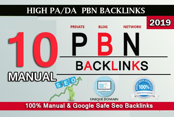 Create 10 High PA/DA TF/CF Homepage PBN Backlinks - Homepage Quality Links