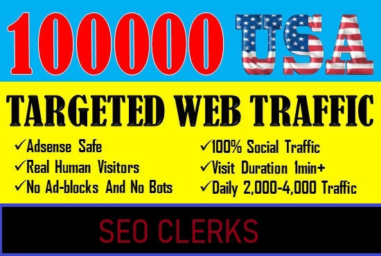 I will provide real visitors through organic search traffic for your website, blog