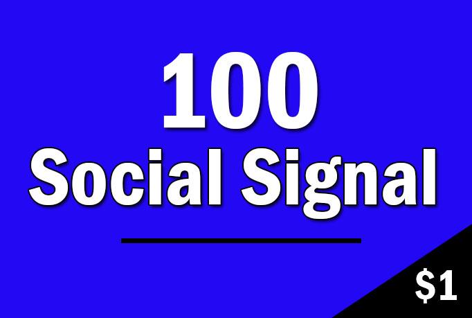 Manually 100 SEO Social Signals HQ and Drip Feed
