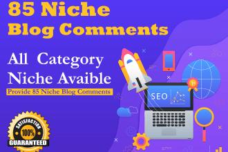 do provide 85 niche relevant blog comment back-links