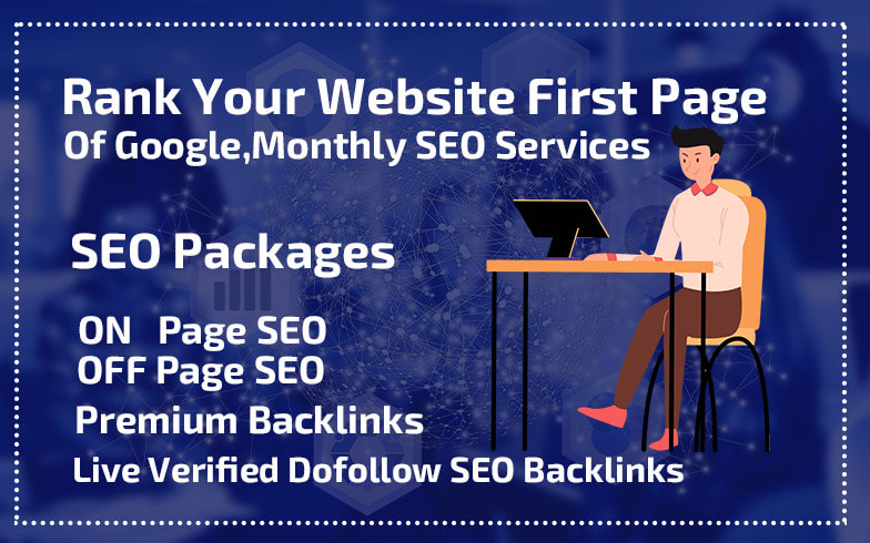I will rank your website first page of google,  monthly seo services