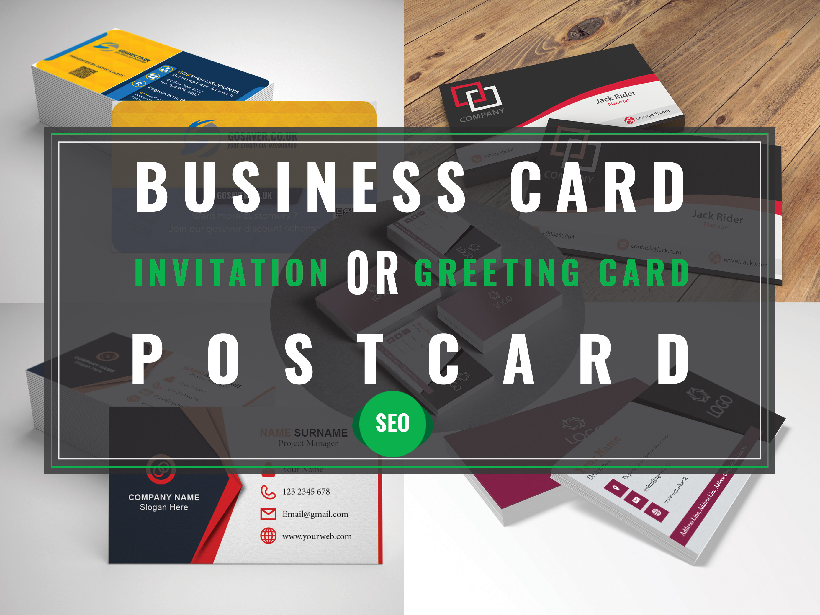 Design Creative Double Sided Business Card Or Postcards