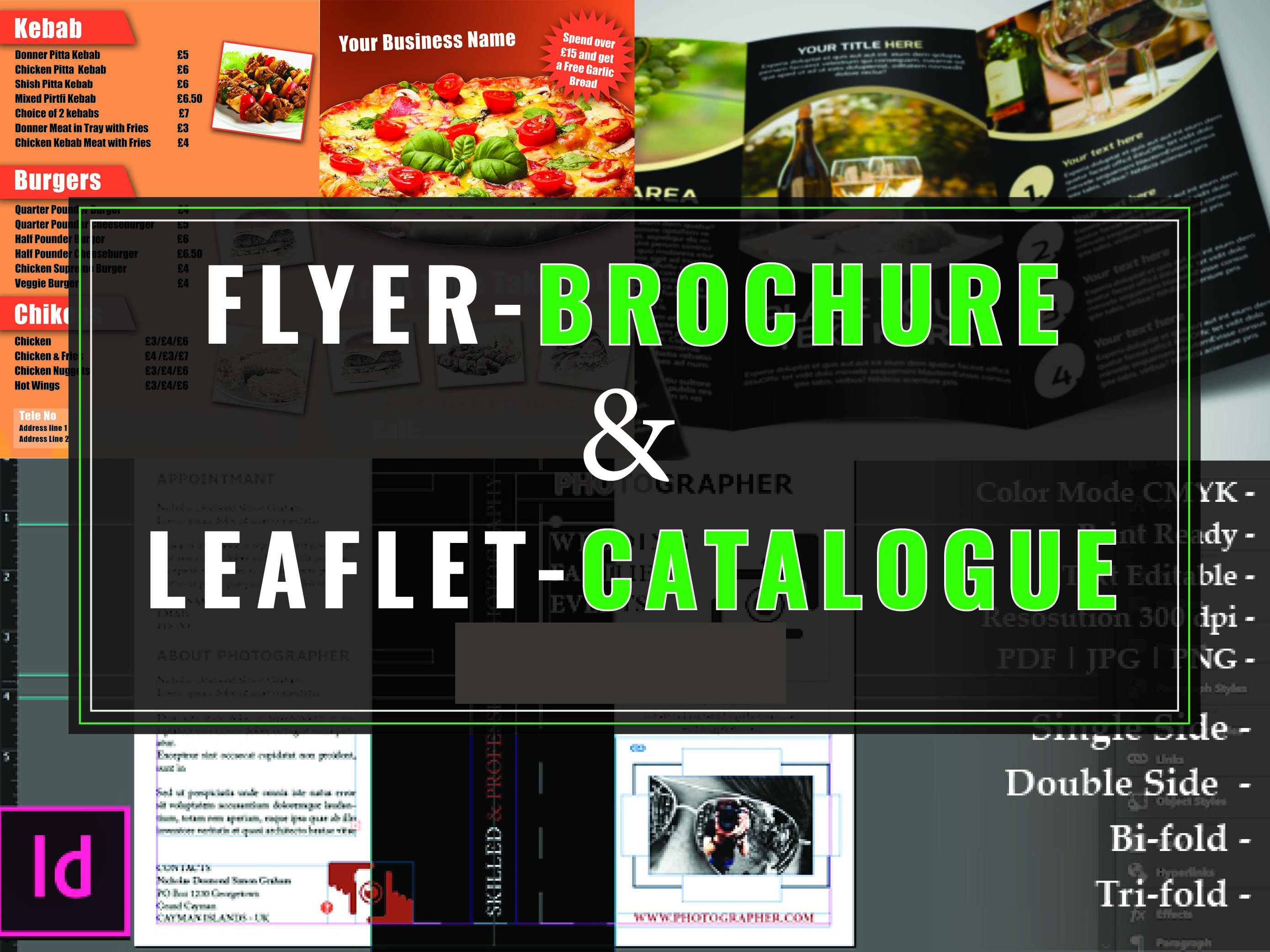 Do Creative Flyer Brochure Leaflet Catalogue or any Design
