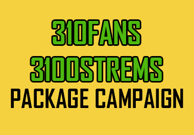 Organic promotion to 310Listeners and 3100 Strems for artist profile and streams promotion for track